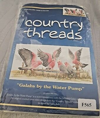Country Threads Counted Cross Stitch Kit Galahs By The Water Pump Bnip
