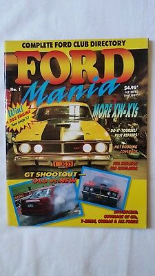 Ford Mania No 1 car magazine published 1993