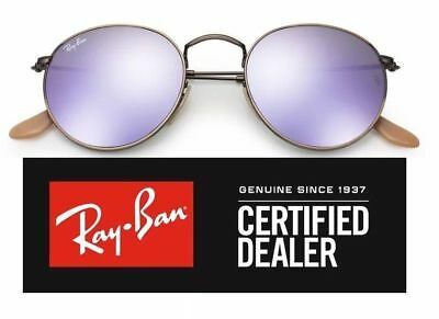 f0c003936a23 RAY-BAN RB3447 167 4K DEMIGLOS BRUSHED BRONZE ROUND METAL Men s Lens ...