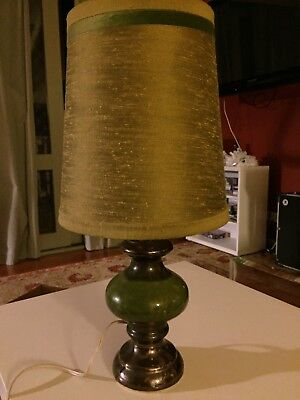 Retro green table lamp 1960's excellent condition