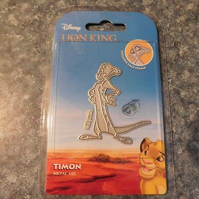 DISNEY - LION KING - TIMON DIE with Face Stamp DIS0917  6.8cm x 5.9cm