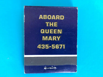 QUEEN MARY - Sir Winston Churchill's - vintage matchbook collectible