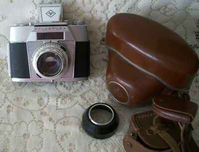 Vintage Film Camera Agfa Color Flex  With 1:28/50 Lens & Case Germany Working