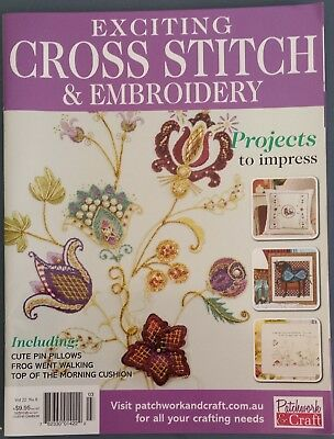 Exciting Cross Stitch & Embroidery Magazine Vol.22 No.8 Projects to Impress