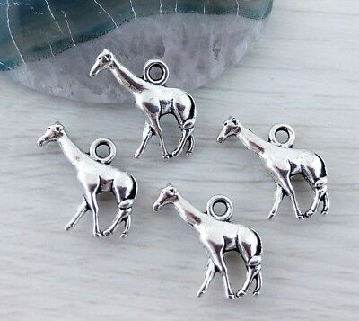 Giraffe Charms 5/10/20/50pc - African Animal Antique Silver Jewelry Charm CH185