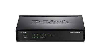 DLINK DES-1008PA 8-PORT 10/100MBPS (with POE 4 Ports) Switch New Sealed in Box