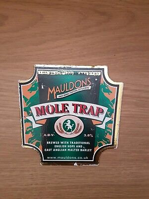 Beer pump badge clip The Black Adder Brewery Mauldons Mole Trap