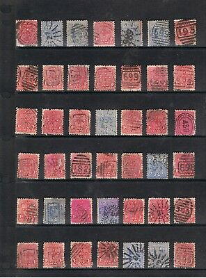 Selection Of N.s.w. State Stamps With Numeral Cancellations.