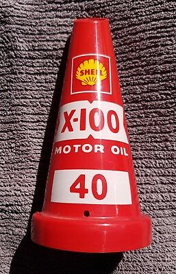 SHELL X-100 MOTOR OIL 40 - OIL BOTTLE TOP  Ex-Garage Service Station (New cond)
