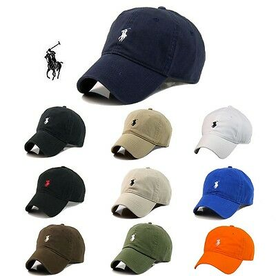 e513c811b73d5 2018 Adjustable Polo Cap with Fine Embroidery Pony Logo Hat Baseball 100%  Cotton
