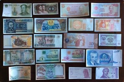 20 Different Mix World Banknotes Unc Lot27