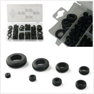 180 Pcs Universal Car Electrical Wire Seal Gasket Tool Rubber Grommet Rings Kit
