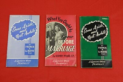 Lot of 3 Queens Work Pamphlets