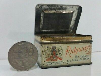 Ridgways Sample Tea Tin Match Striker