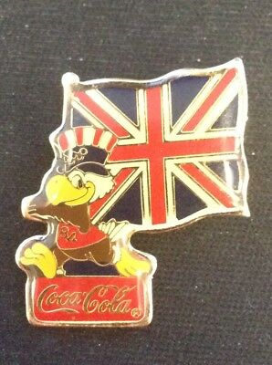 Vintage 1984 Los Angeles Olympics Coke Cola Great Britain Pin Badge #214