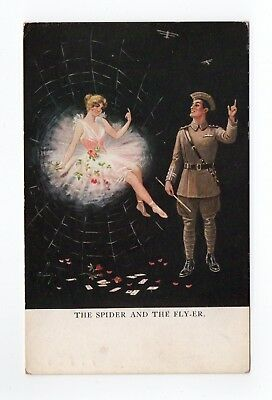 Ellam - Ww1 - The Flyer And The Fly - Artist Signed.