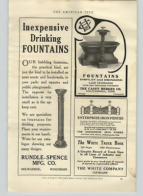 1918 PAPER AD Casey Hedges Cast Iron Horse trough Drinking Fountain Barnum Jail