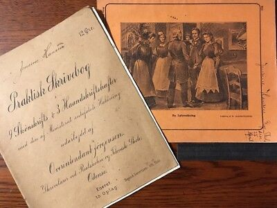 Two early 20th century European child's copy books school books