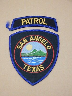 San Angelo Texas Police Shoulder Patch with Detached PATROL Rocker FREE SHIPPING