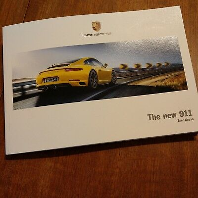 New 2016 Porsche 911 991.2 USA Showroom Sales Brochure RARE!!  👍