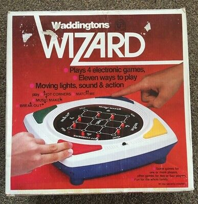 Vintage Waddington Wizard Boxed electronic game + instructions (Working Order)