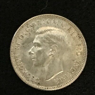 Great Britain, 1943 6 Pence (George) Silver!
