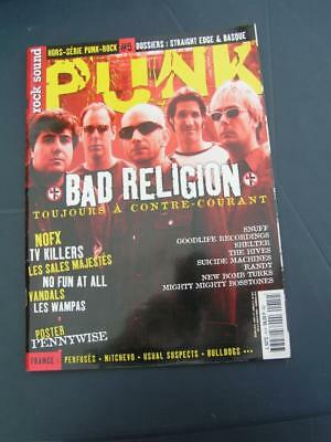 Rock Sound + Cd 14H Bad Religion Nofx Tv Killers Wampas Sales Majestes Vandals