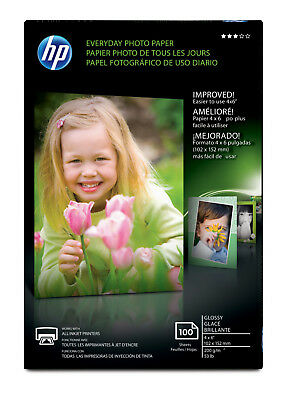 NEW HP CR759A Everyday Glossy Photo Paper 53 lbs 4 x 6 100 Sheets/Pack