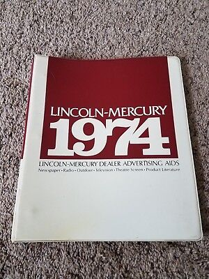 1974 Lincoln Mercury Dealer Album Advertising Aids    ORIGINAL