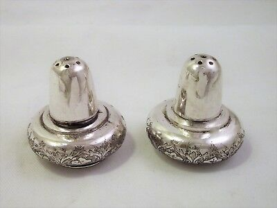 Pair Of Vintage Persian Silver Peppers