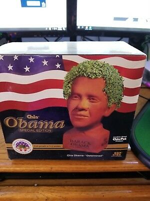 Barack Obama Chia Pet - Determined - Special Edition - NEW - Factory Sealed