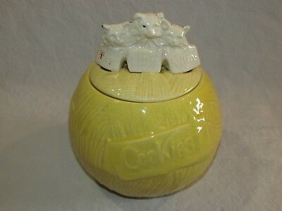 "Vintage 9"" McCoy 3 Three Little Kittens Yellow Cookie Jar Cat Kitty Cookies"