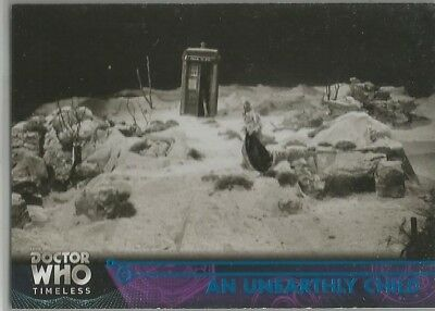 DOCTOR WHO TIMELESS blue parallel (#/99) base card #1 AN UNEARTHLY CHILD