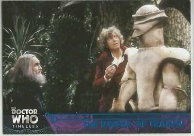 DOCTOR WHO TIMELESS blue parallel (#/99) base card #28 THE KEEPER OF TRAKEN