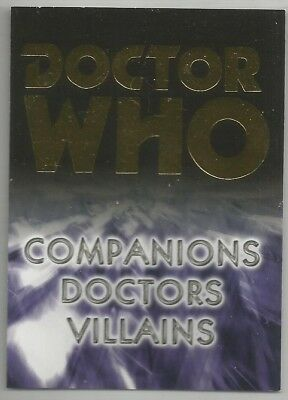 DOCTOR WHO TRILOGY Promo trading card B1 (2006) STRICKLY INK
