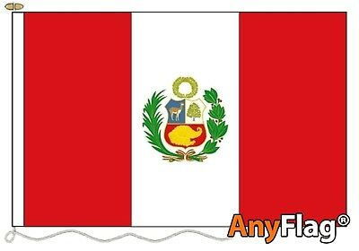 Peru Crest Custom Made To Order Various Flag Sizes