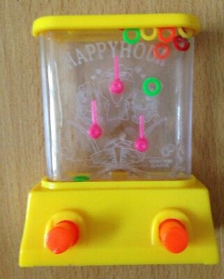 Vintage Water Game Happy Hour Skill Hoops Activity Toy '80s Style Mini Version