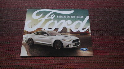 2017 Ford Mustang Shadow Edition Sales Brochure From The U.k.