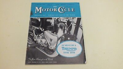 Vintage The Motor Cycle Magazine 5Th Jan 1956