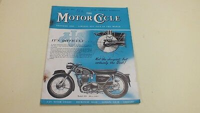 Vintage The Motor Cycle Magazine 12Th Jan 1956