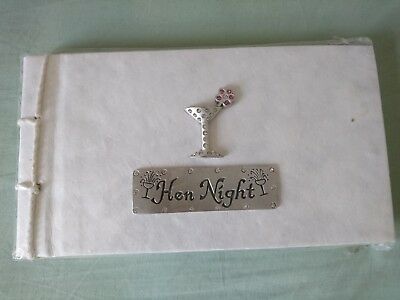 Hen night memory scrap/message/photo book, rustic