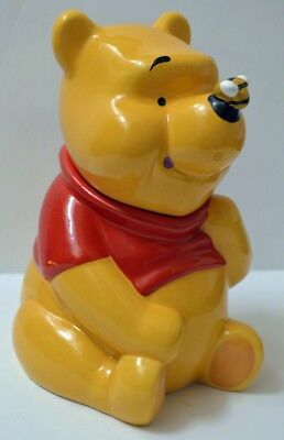 Disney/ZAK Winnie the Pooh w/ Honey Bee Nose Ceramic Cookie Jar Canister, 10""