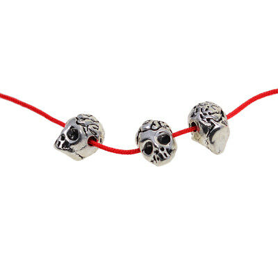 2mm Hole Skull Head Spacer Beads Charm Bracelet Finding Jewelry Craft DIY 30