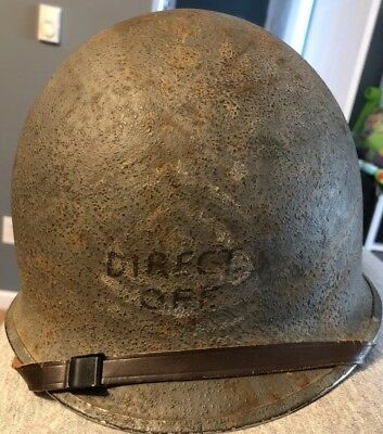 WWII Helmet Fixed Bale USN Gray With Liner