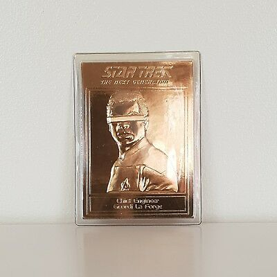 22ct Gold Star Trek TNG Vintage Collectable Trading Card Geordi La Forge