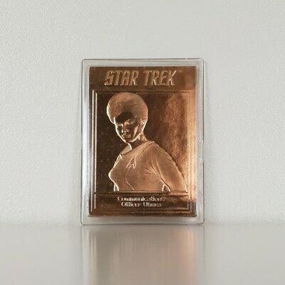 22ct Gold Star Trek TOS Vintage Collectable Trading Card Uhura
