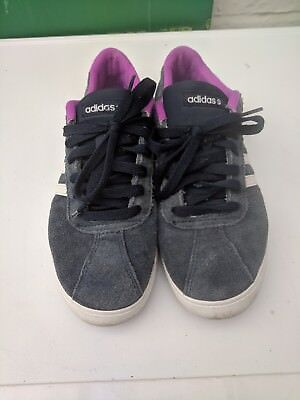 Adidas Neo Women's Trainers in navy & pink Size 7