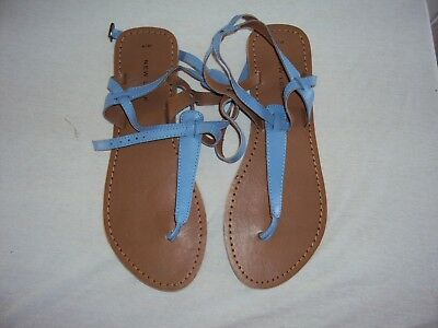Womans Ladies Beach Sandals New Look Blue Size 6 Eu 39 ++Worn Once+++