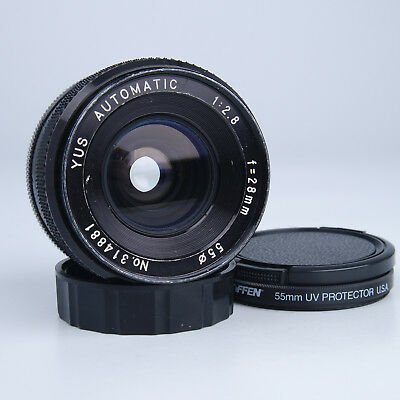 YUS Automatic 28mm f/2.8 Contax Yashica Mount Lens