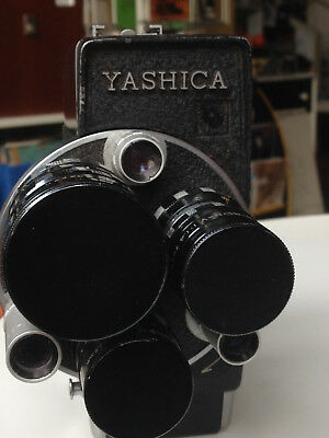 Yashica Cine Camera 16mm, late 60's/70's, 3 lenses